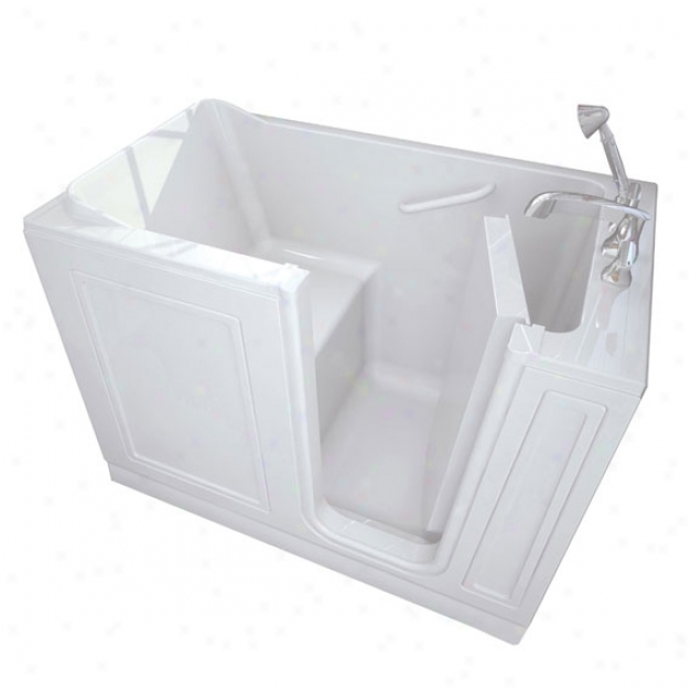 American Standard 3051.110.arw 30 X 51 Walk-in Bath With Air Spa System And Right Side Drain, Whit