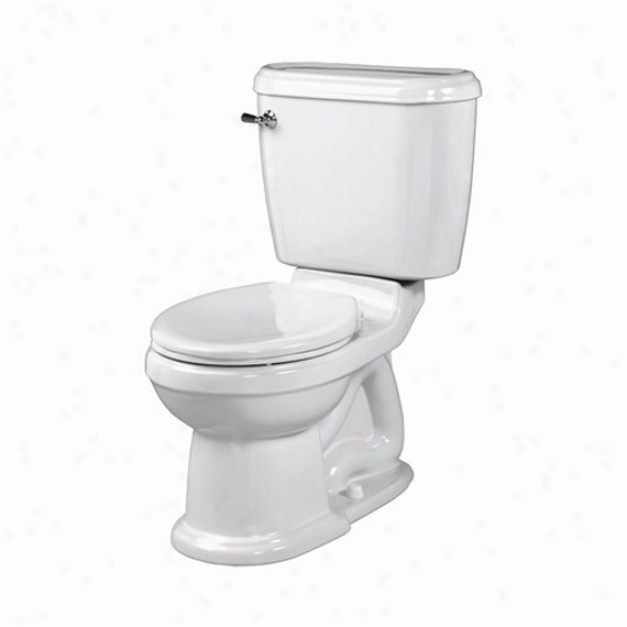 American Standard 3167.016.165 Champion 4 Round Front Toilet Bowl, Silver