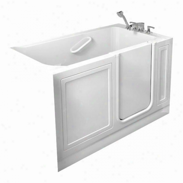Aerican Standard 3260.210.wrw 32 X 60 Whirlpool Walk-in Bath With Right Side Drian, White