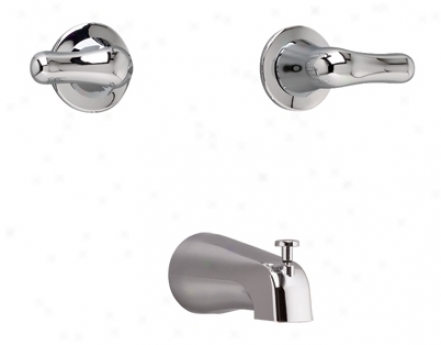 American Standard 3275.505.002 Colony Soft Pair Handle Tub Filler, Polished Chrome