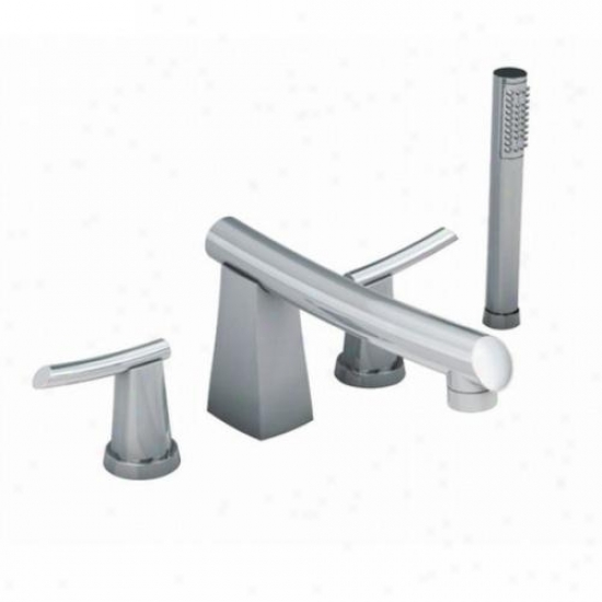 American Standard 7010.901.002 Green Tea Deck Muont Tub Filler With Individual Snower, 8 Cast Brass S