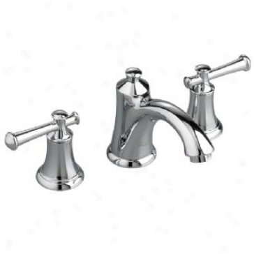 American Standard 7415.801.002 Portsmouth Two-handle Lavtory Faucet With Brass Spout, Polished Chrom