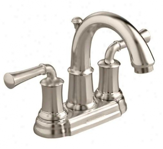 American Standard 7420.201.295 Portsmouth Centerset Lavatory Faucet With Lever Handles, Brushed Nick