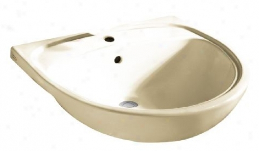 Amerivan Ensign 9960.001.222 Mezzo Semi-countertop Sink With Center Cavity, Linen