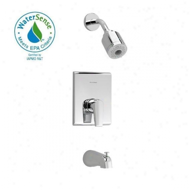 American Standard T590.508.002 Studio Bath/shower Snug Kit, Poilshed Chrome