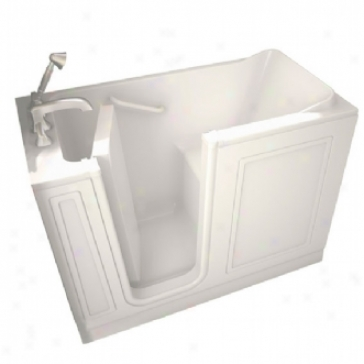 American Standard Walk--in Baths 2651.110.slw 26 X 51 Walk-in Bath, Soaker, Left Side Drain, White