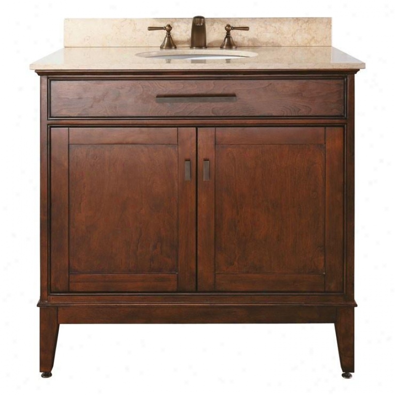 Avanitty Madison-v36-to Madison 36 Vanity Cabinet Only, Tobacco