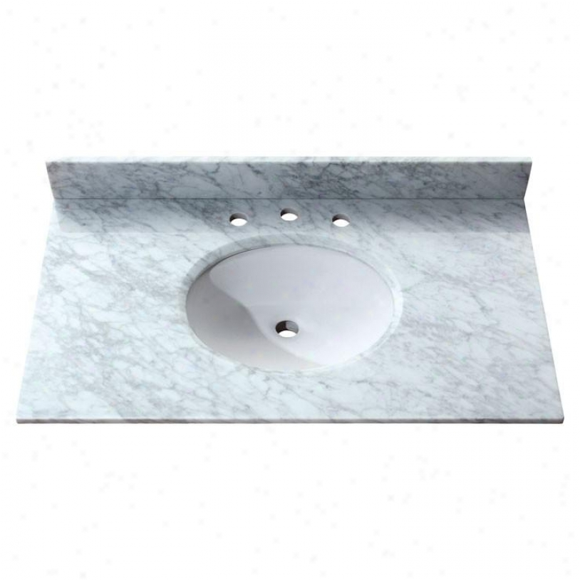 Avanity Sut37cw 37 X 22 Carrera Marble Stone Top, White