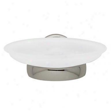 Baldwin 3506.150.g Edgewater Wall Mount Glass Soap Dish, Satin Nickel