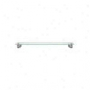 Baldwin 3508.150.g Edgewater 24 Glass Shelf, Satin Nickel