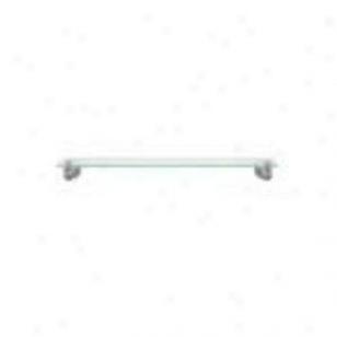 Baldwin 3508.150.g Edgewater 24 Glass Shelf, Satin Nickel