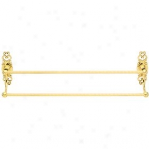 Baldwin 3622.030.24 Alsace 24-inch Double Towel Bar, Burnished Brass