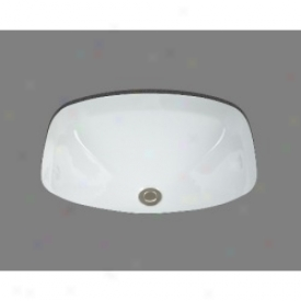 Bates And Bates P1719.wh Lavatory Undermount Sink, White