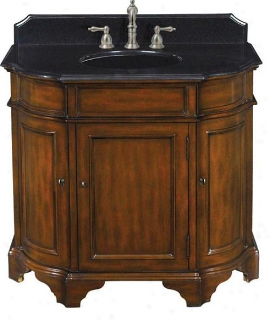 Belle Foret 80058r 45 Single Basin Vanity W/ Black Granite Top, Dark Cherry