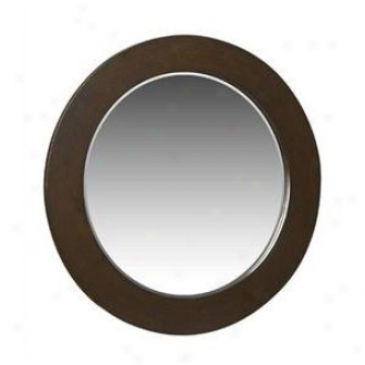 Belle Foret Bf80026 Large Rond Mirror, Espresso