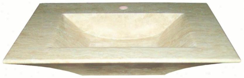 Belle Foret Bflt1ldur Grande Rectangular Stone Vessel Lwvatory, Durango