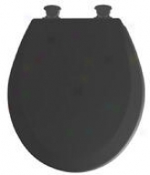 Bemis 46ecdg 047 Mayfair Ez Clean Round Toilet Seat, Black