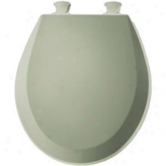 Bemis 500ec 095 Round Closed Front Toilet Bottom, Bayberry