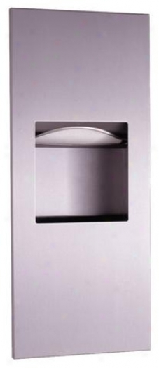 Bobrick B-36903 Trimlineseries Recessed Paper Towel Dispenser/waste Receptacle, Satin Stainless Stee