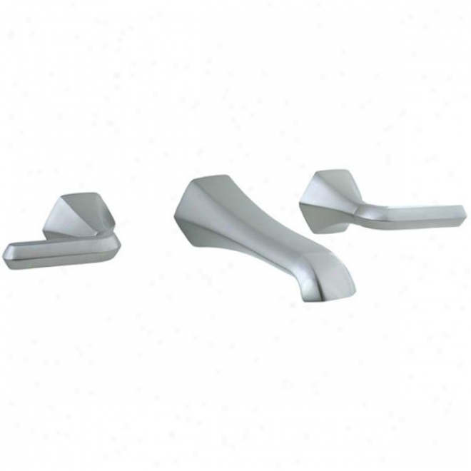 Cifial 201.156.620 3-hole Wall Mount Lav Faucet, Satin Nickel