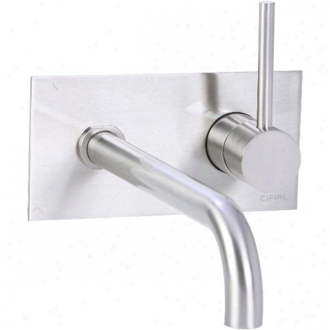 Cifial 225.152.620 Single Handle Wall Get upon Lavatory Faucet, Satin Nickel
