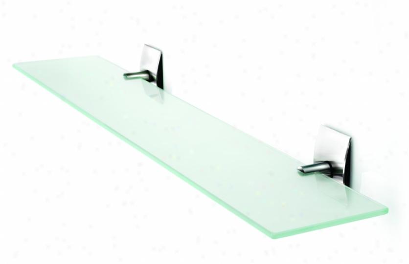 Croydex Qb551443yw Kensington Glass Shelf, 28 1/2, Chrome
