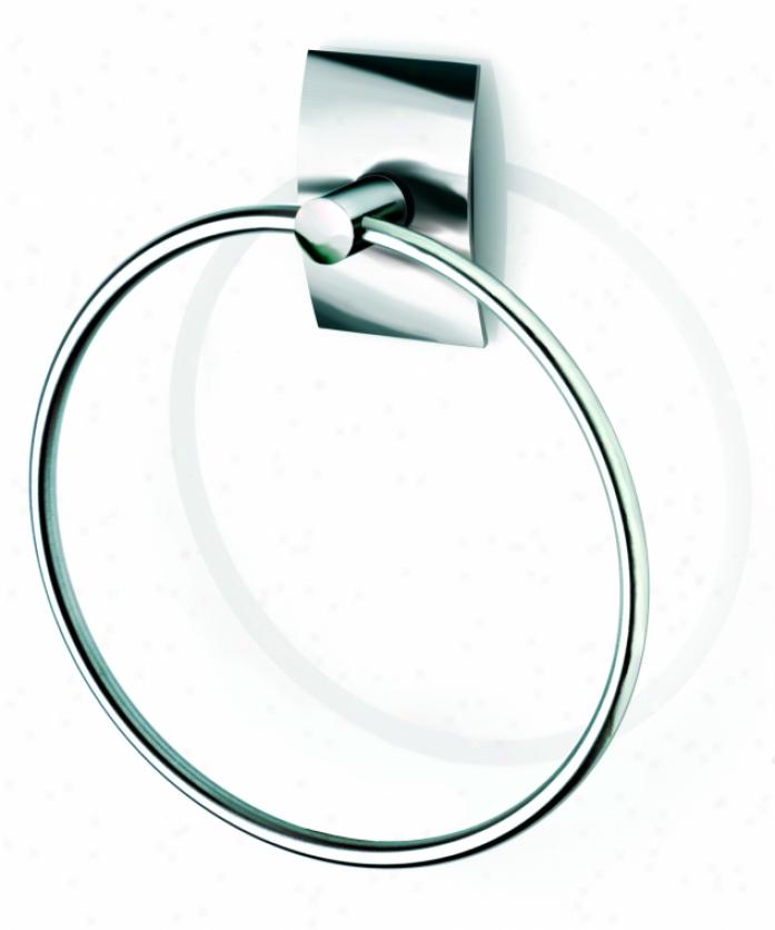 Croydex Qb551543yw Kensington Towel Ring,C hrome