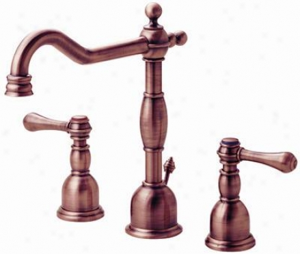 Danez D304057ac Opulence Widespread Lavatory Faucet, Antique Copper