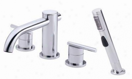 Danze D305758 Parma Riman Tub Faucet With Soft Touch Personal Sbower, Chrome