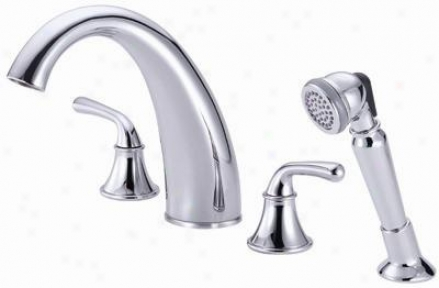 Danze D307756 Bannockburn Roman Tub Faucet W/soft Touch Petsonal Shower, Chrome