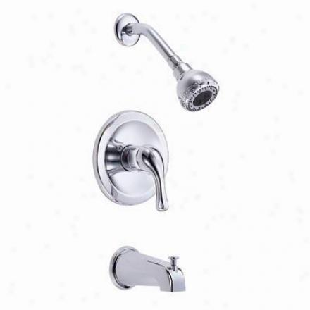 Danze D510011t Melrosee Single Ascendency Tub & Shower Faucet Trim, Chrome