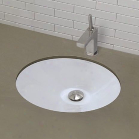 Decolav 1412-cwh Oval Undermount Bathroom Sink, Ceramic White