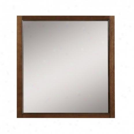 Decolav 9710-mmg Jordan 30 Wall Mirror, Mahogany