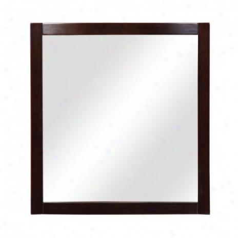 Decolav 9712-dwn Alexandra 30 Wall Mirror, Dark Walnut