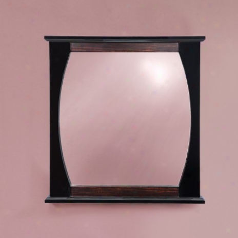 Decolav 9718-blw Natasha 30 Wall Mirror, Ebony Black Gloss