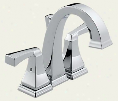 Delta 4551 Dryden Two Handle Mini-widespread Lavatory Faucet, Chrome