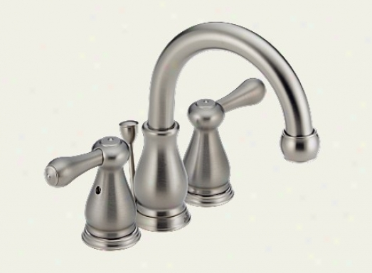 Delta 4569-sslhp Orleans Two Handle Mini-widespread Lavatory Faucet, Stainless