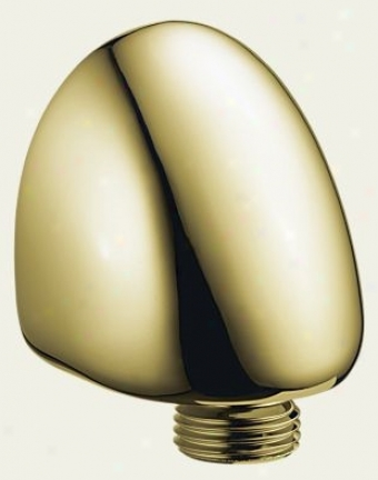 Delta 50560-pb Wall Elbow For Hand Shower, Brilliance Polished Brass