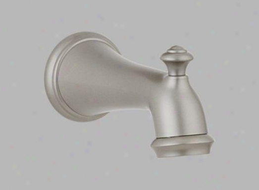 Delta Rp34357nn Tub Spout With Pull-up Diverter, Brilliance Pearl Nickel