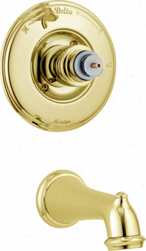 Delta T14155-pblhp Victorian Monitor 14 Series Tub Trim Only - Less Handle, Brilliance Polisheed Bras