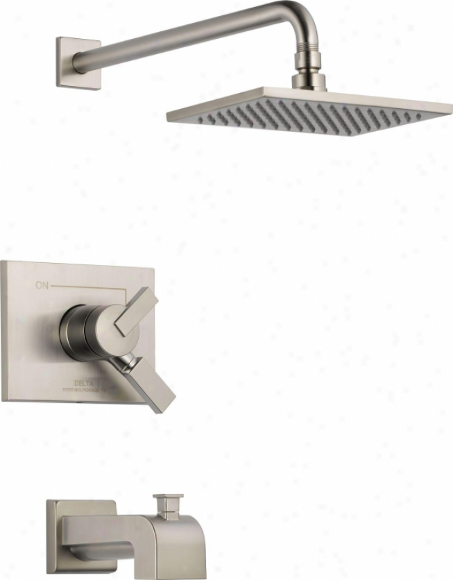 Delta T17453-ss Vero Adviser 17 Series Tub And Shower Trim, Stainless Steel