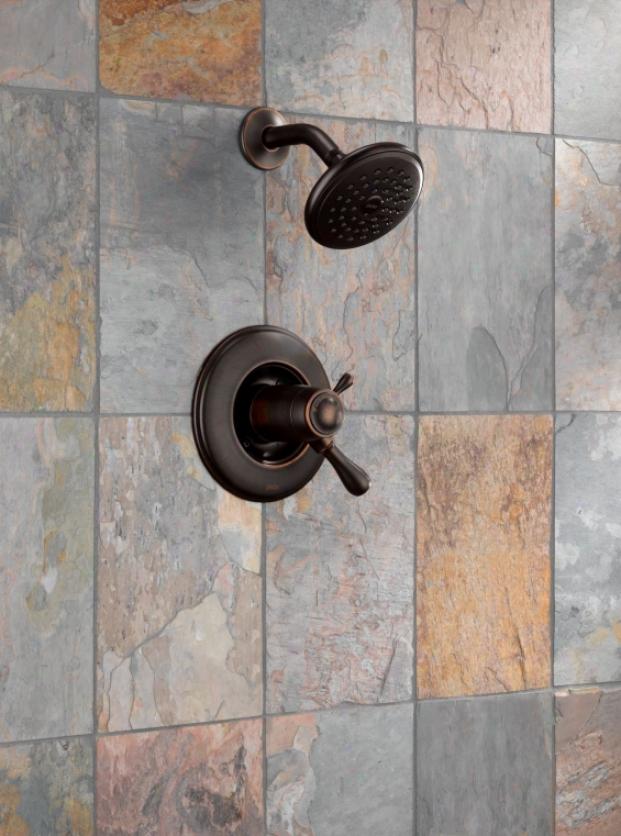 Tempassure 17t Series Tub Shower Trim T17t497 Rb: Kohler K-11416-AF Bancroft Hand Towel Holder, Vibrant