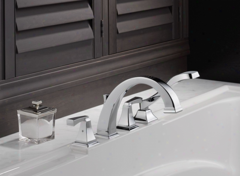 Delta T4751 Dryden Roman Tub With Handshower Trim, Chrome