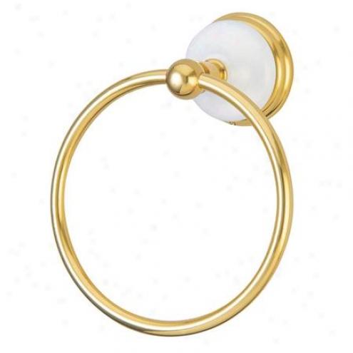 Designer Trimsca0e Ba1114pb Victorian 6 Towel Ring, Polished Brass