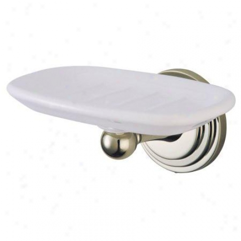 Designer Trimscape Ba2715sn Milano Soap Dish, Satin Nickel