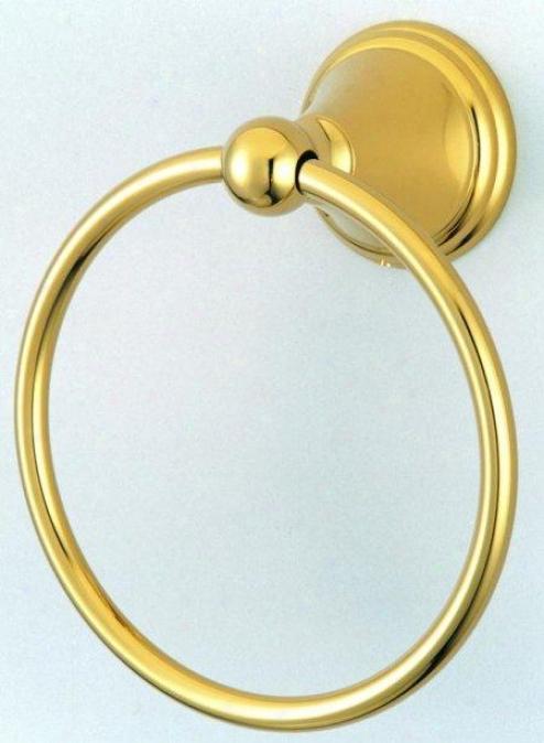 Designer Trimscape Ba2974pb Governor 6 Towel Ring, Polizhed Brass