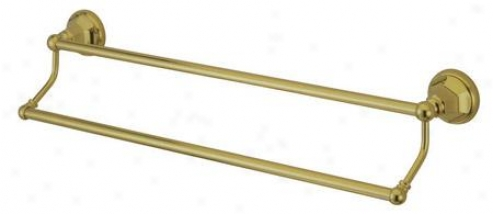 Designer Trimscape Ba4813pb Metropolitan 24 Dual Towel Bar, Polished Brass