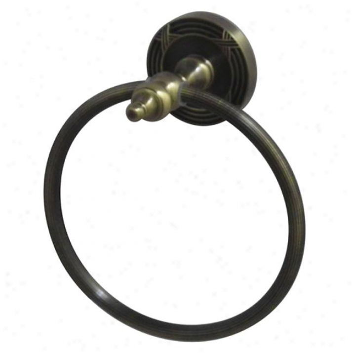 Designer Trimscape Ba9914ab Templeton 6 Towel Ring, Vintage Brass