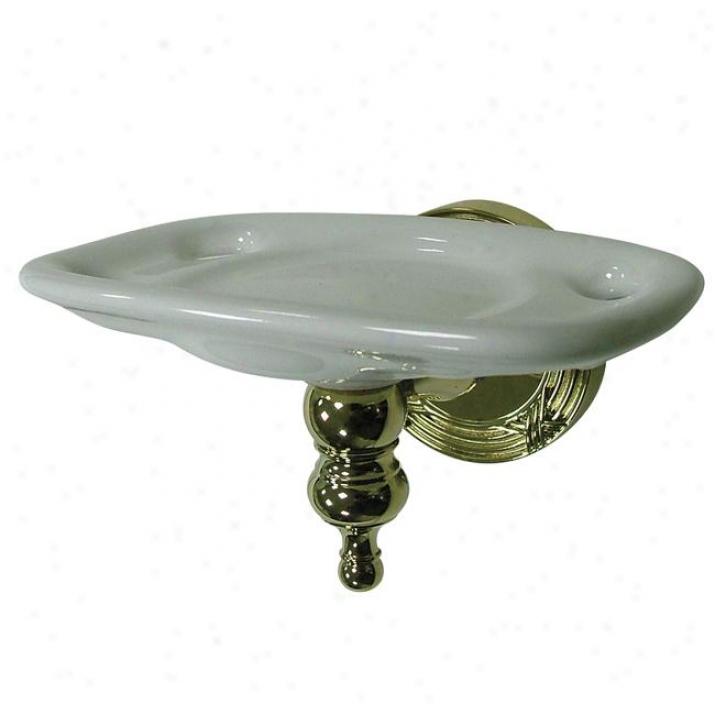 Designer Trimscape Ba9916pb Templeton Toothbrush/tumbler Holeer, Polished Brass