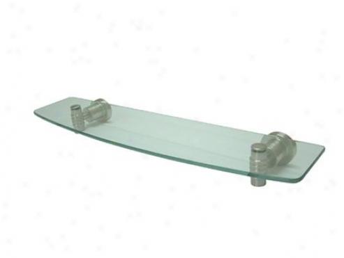 Designer Trimscape Bah8619sn Milano Cosmetic Glass Shelf, Satin Nickel